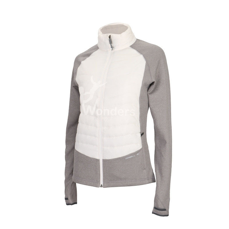 Women's quilted light melange hybrid jacket