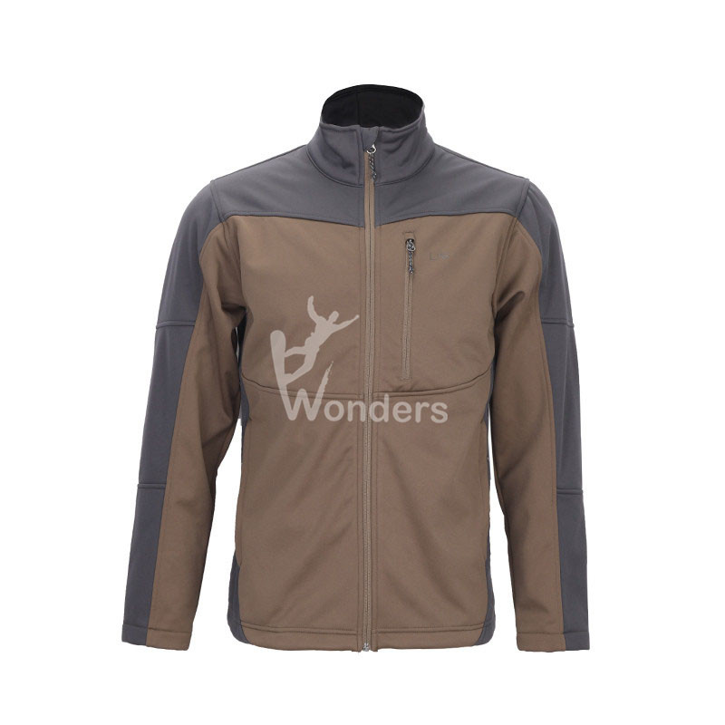 Men's water-resistant full zip  bonded fleece Softshell jacket