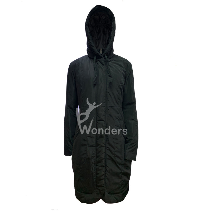 Woman's long puffer parka jacket with hood winter coat outdoor apparel