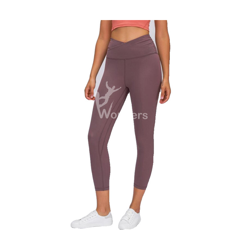 Womens high waist and hip raising Yoga Capris Sportswear Leggings Crisscross waist  Activewear Bottoms