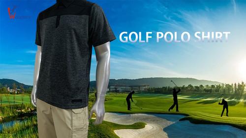 Wonders Men's 2-tone Melange jersey Polo