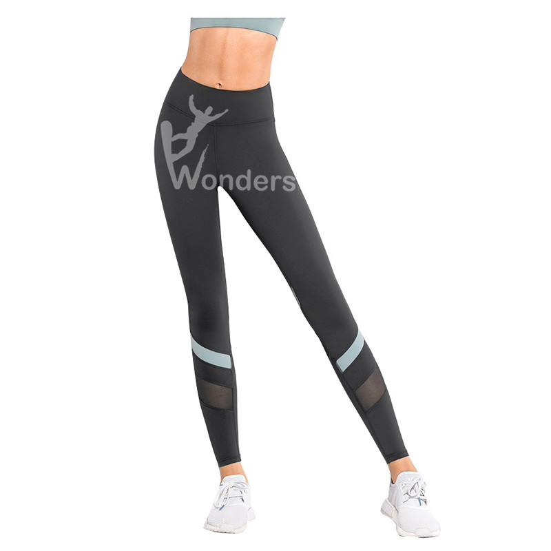 Women's Colour Block Sports Leggings Mesh Workout Yoga Running Pants Tights