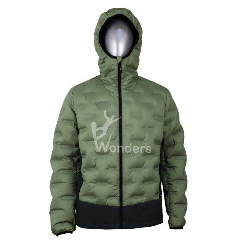 Men's Seemless Tunnel Lightweight Down Jackets Full Zip Down Puffer Coat