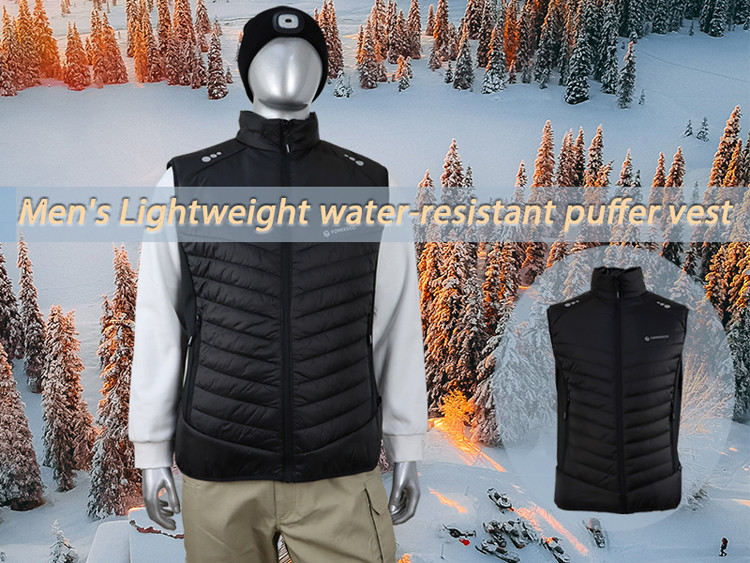 Men's Lightweight Waterproof Puffer Vest Sleeveless Padded Jacket