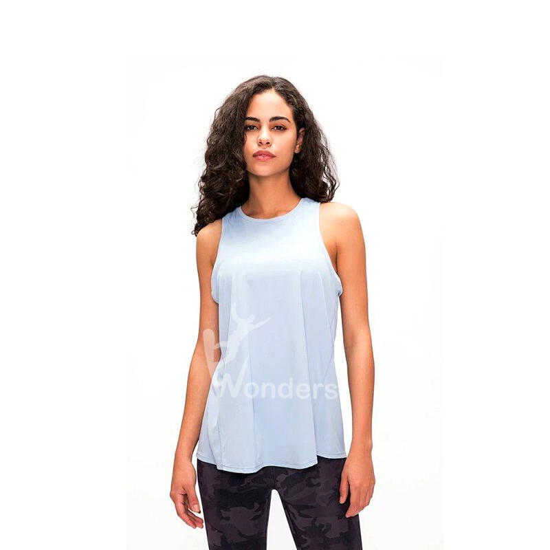 Women's Yoga Vest Sleeveless T-shirts Open Back Best Yoga Sports Tops
