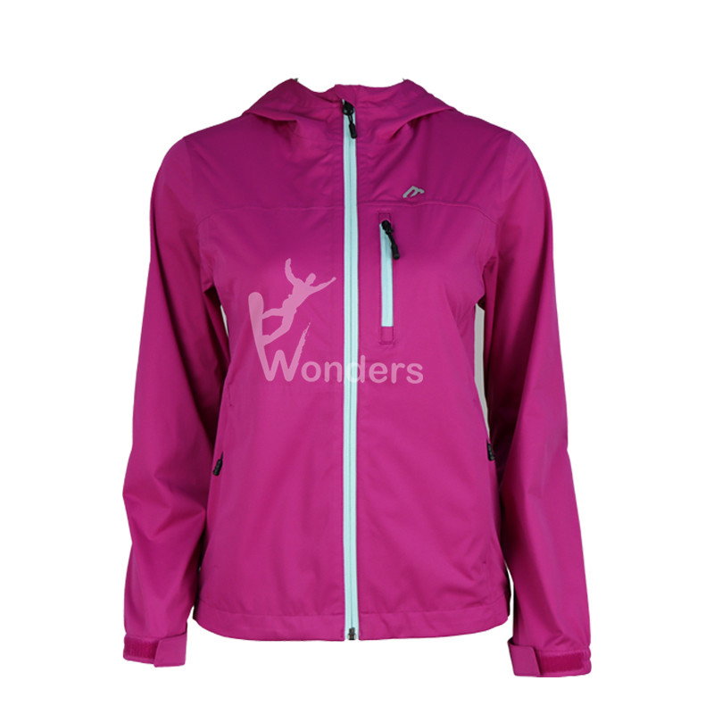 Women's Softshell Lightweight Waterproof Rain Jacket With Hood