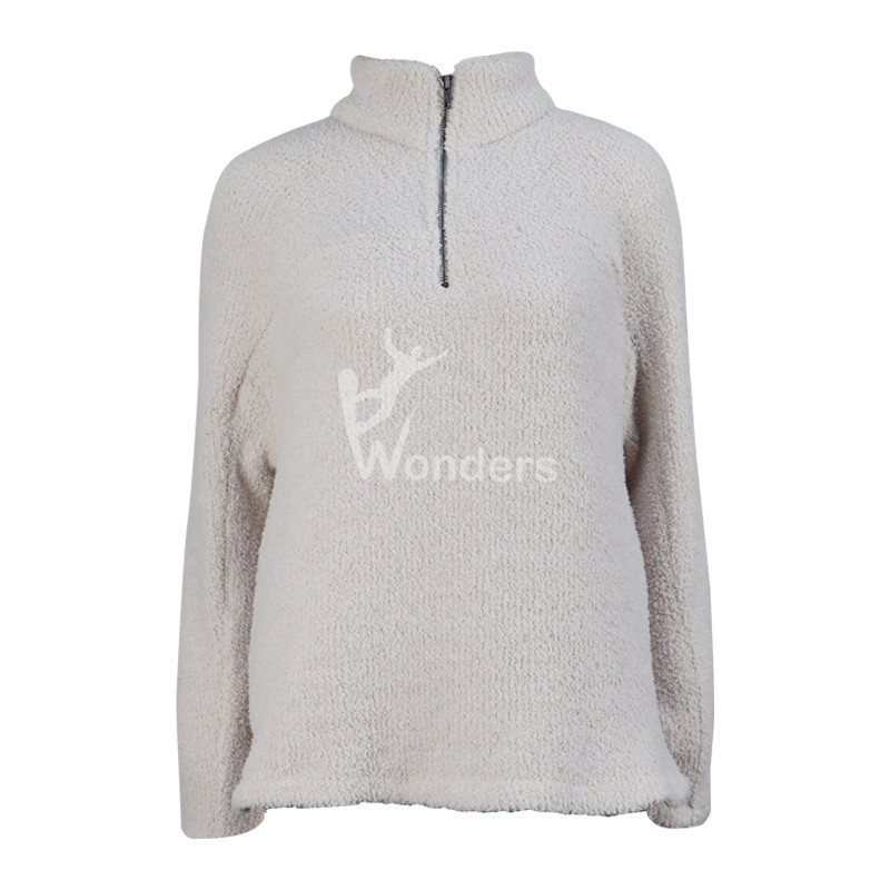 Women's 1/4 Zip Sherpa Fleece Sweatshirt High Neck Pullover With Pockets