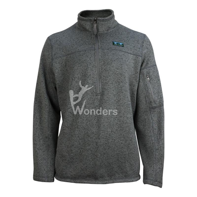 Men's Knit Fleece Pullover Half Zip Sweatshirt