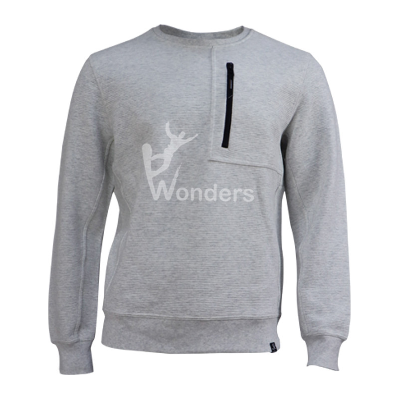 Men's Crew Neck Fitness Long Sleeve Custom Cotton Pullover
