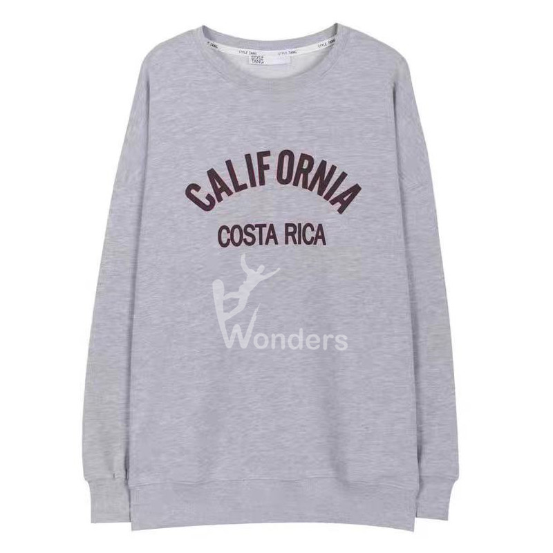 Women's Round Neck Sweatshirt Letter Print Long Sleeve Basic Pullover