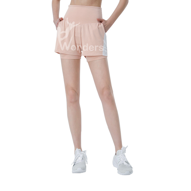 Women High-Waist 2 In 1 Running Shorts With Liner Yoga Shorts