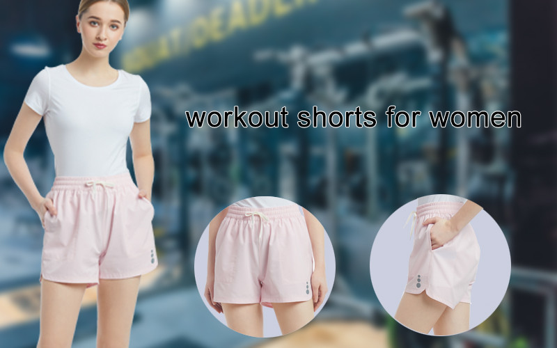 Quick-Dry Workout Shorts for Women Running Double Layer Shorts