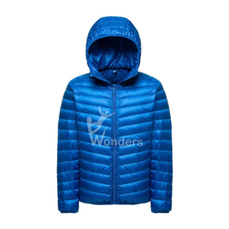 Men's Solid Lightweight Puffer Jackets With Hood