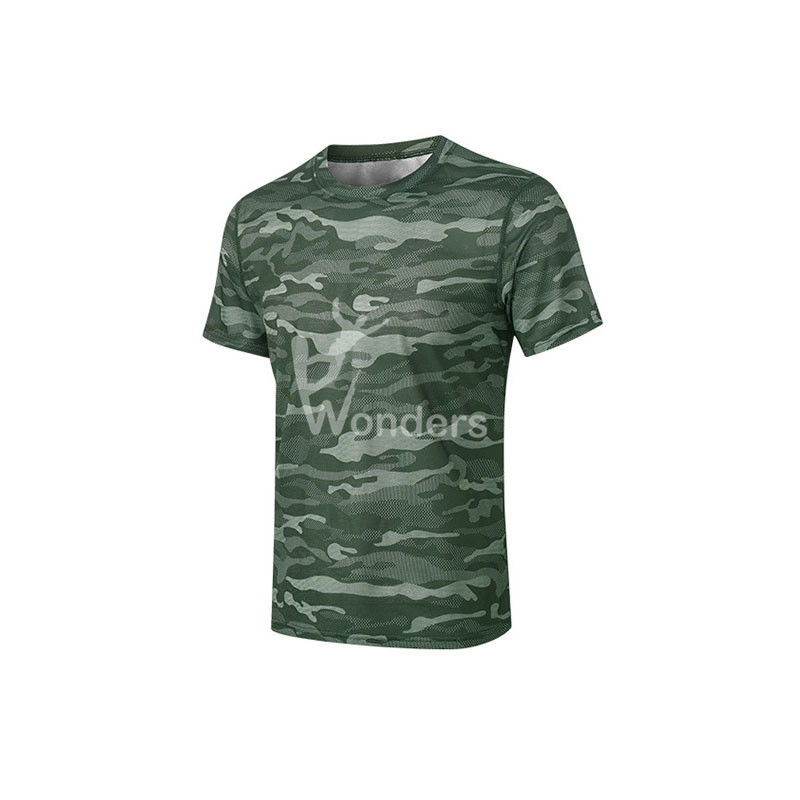 Men's Causal Running Shirt Outdoor Camouflage Printing Tshirt