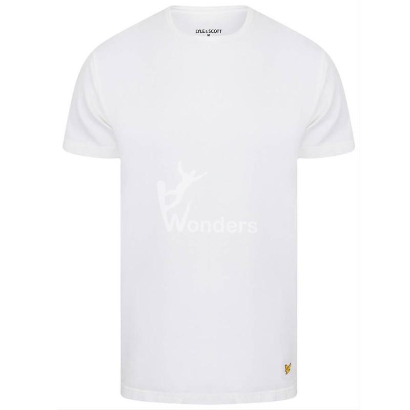 Men's Cotton Classic Tshirt Crew-Neck short sleeve Basic Tee