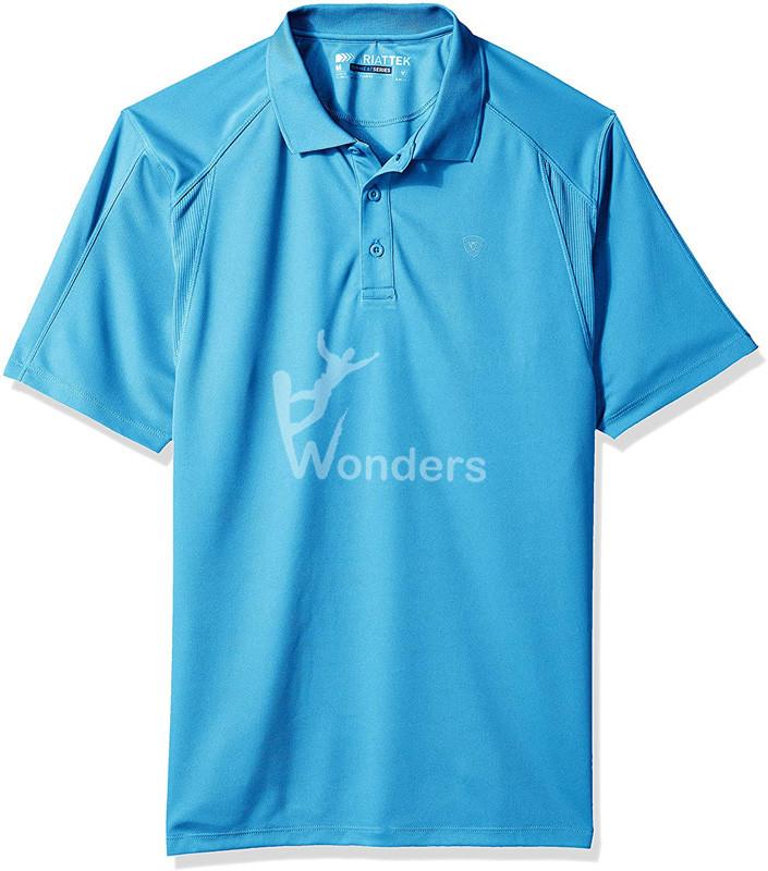 Men's Ac Polo Shirt Short Sleeve Solid Button Golf Shirt
