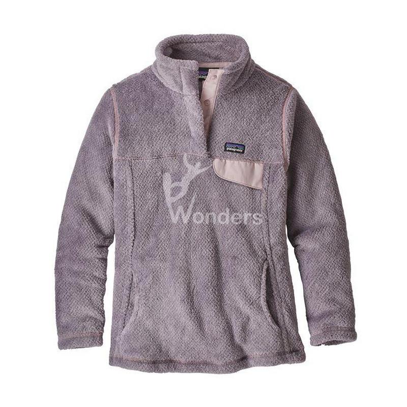 Women's Recycled Fleece Pullover Classic Snap-T Sweatshirt