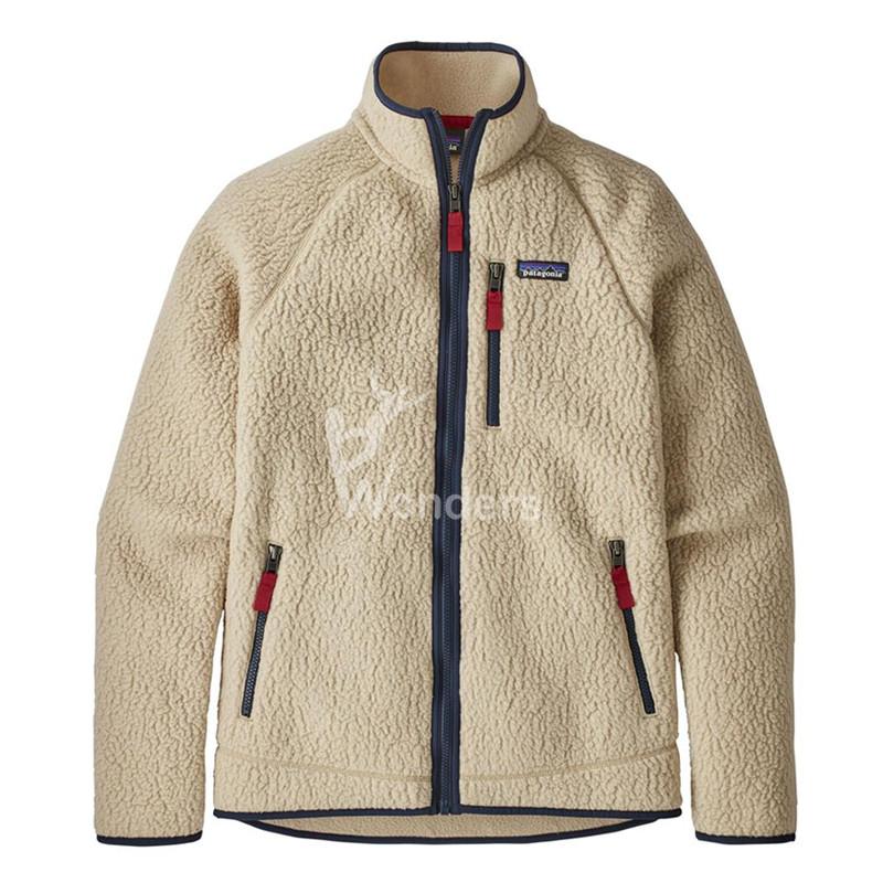 Men's Recycled Fleece Jacket Full Zip Lined Sherpa