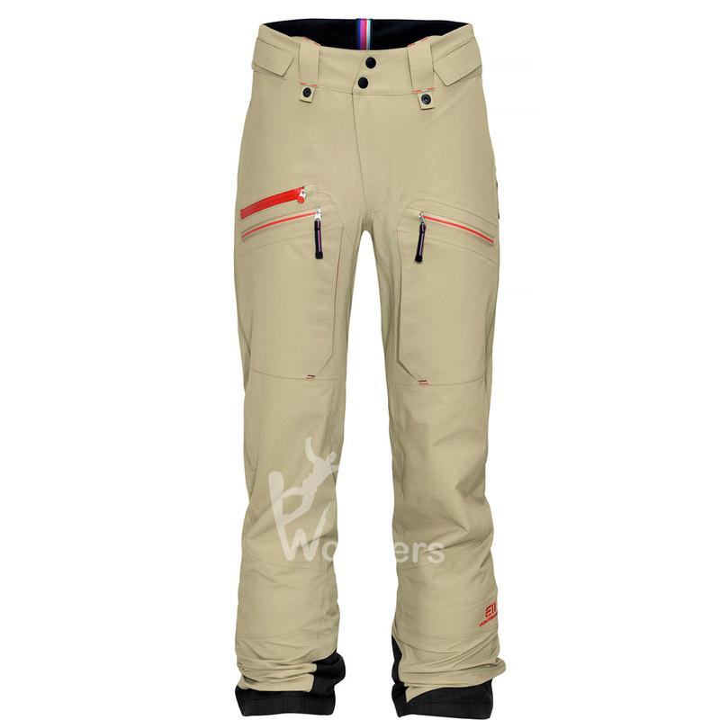 Women's Waterproof SKiing Pants Red Glow Melange