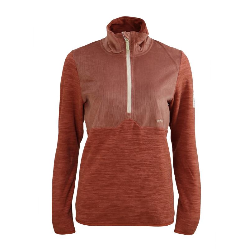 Womens 100% recycled 1/4 zip melange fleece jacket