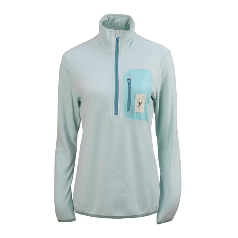 Womens 100% recycled 1/4 zip fleece jacket