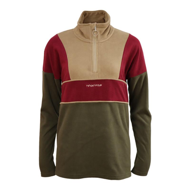 Mens 100% recycled 1/4 zip fleece jacket