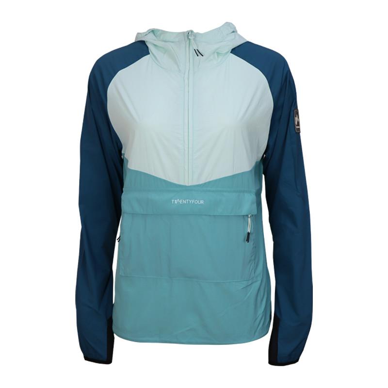 Womens lightweight packable 1/4 zip Eco windbreaker jacket