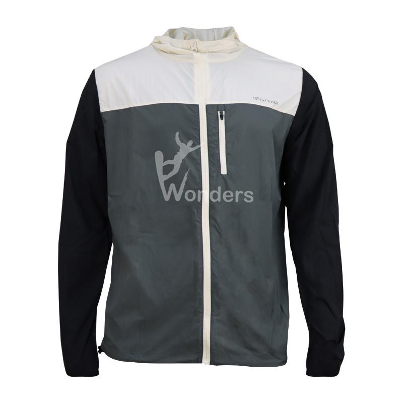Mens Lightweight packable full zip Eco windbreaker hoodie jacket