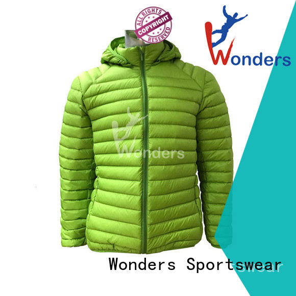 Wonders high quality slim fit down jacket manufacturer for promotion