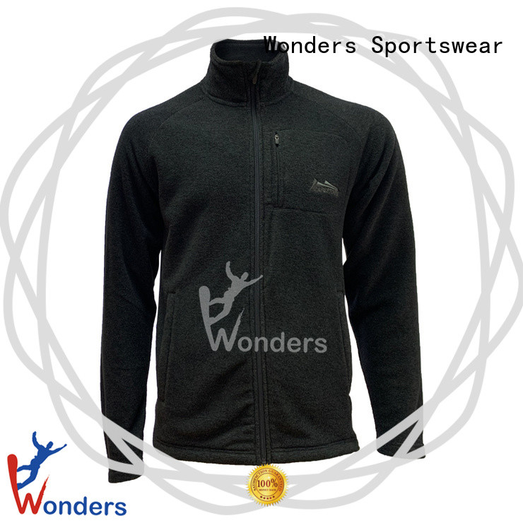 Wonders full zip fleece jacket best supplier for sports