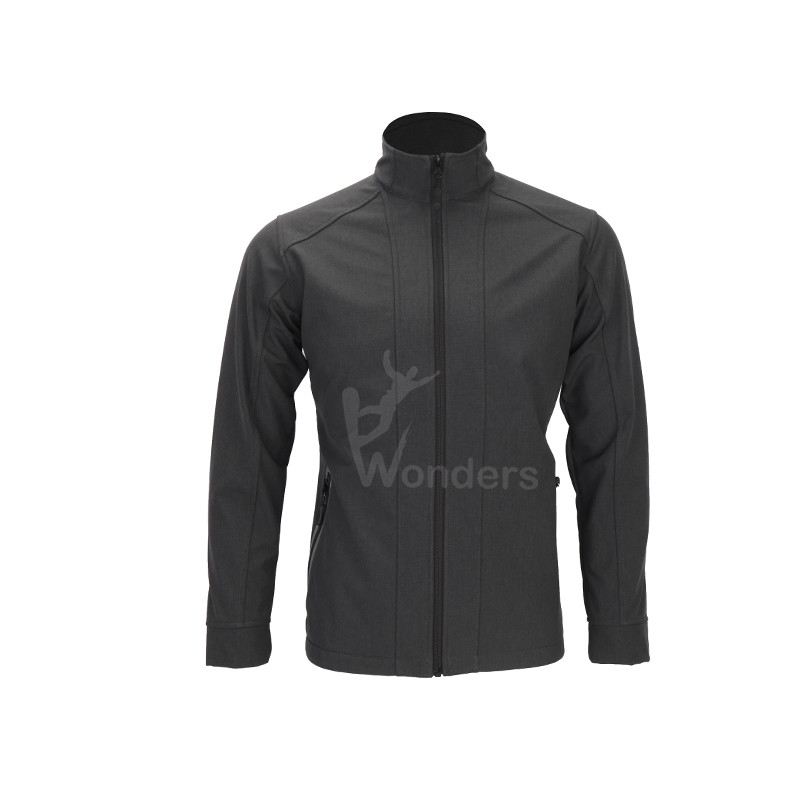Men's waterproof full zip soft shell jacket