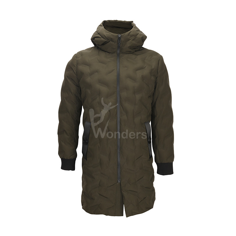 Women's welded tunnel seemless padded down Parka jacket with fix hood