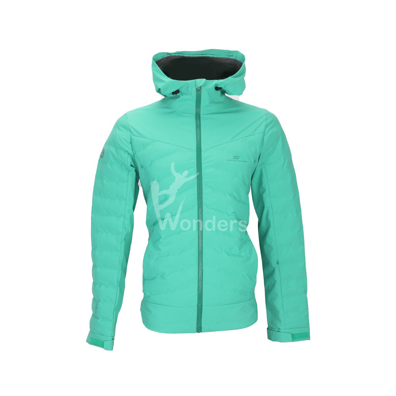 Men's  waterproof 3 layer full zip padded winter Jacket body primaloft insulation