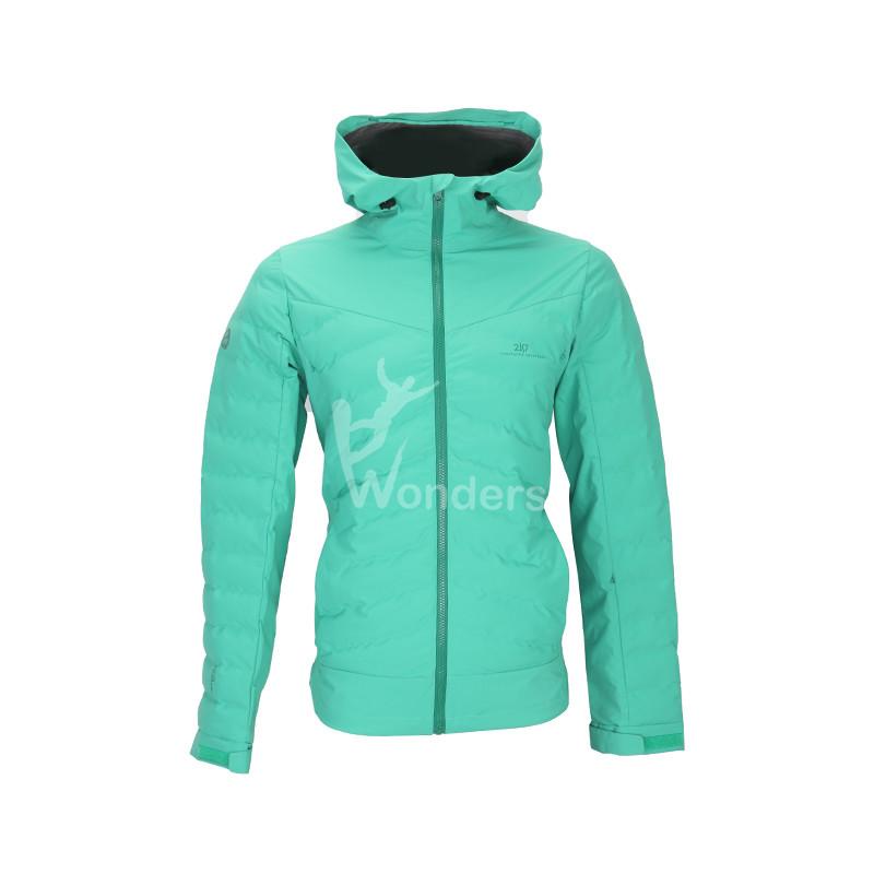 Men's  waterproof 3 layer full zip padded winter Jacket body primaloft insulation