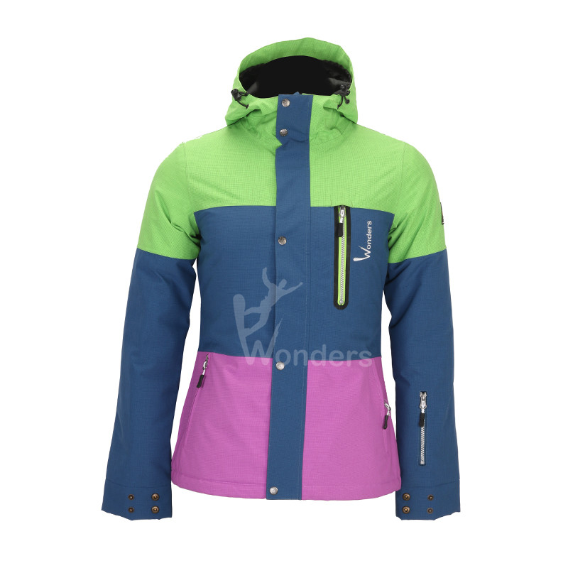 Women's waterproof and breathable light ski jacket warm winter snow coat