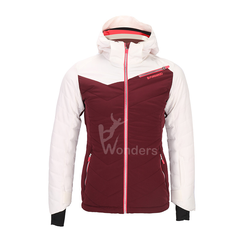 Women's waterproof insulated zip-off ski jacket  winter snow coat