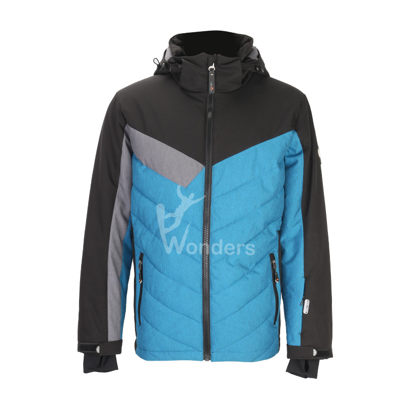 Ellessse men's full zip waterproof and breathable zip off melange light ski jacket