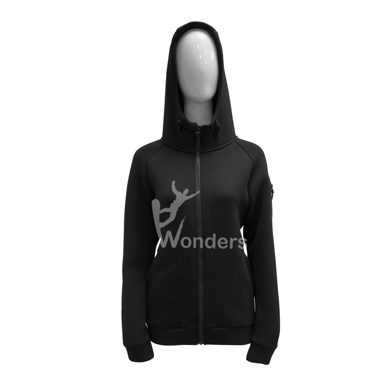 Women's full zip up sandwich hoodie jacket