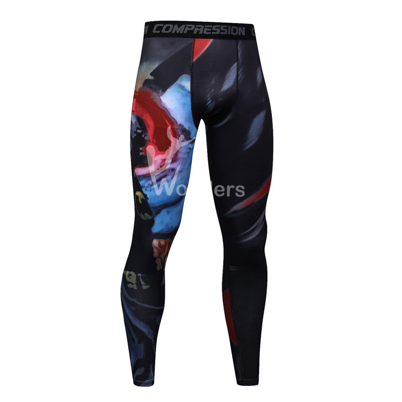 Men's printed skins compression leggings  gym tights