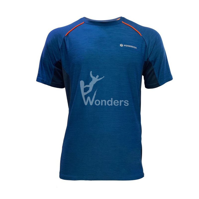 Men's quick dry short sleeve running T-shirts round neck