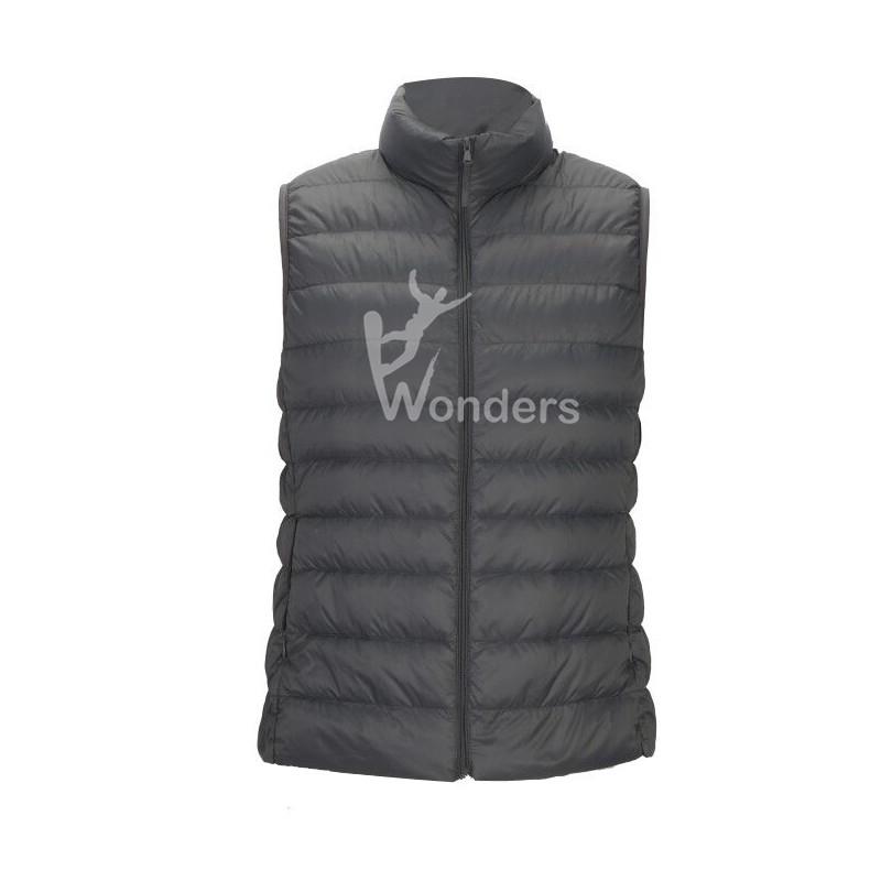 Men's lightweight  duck down packable  puffer black vest