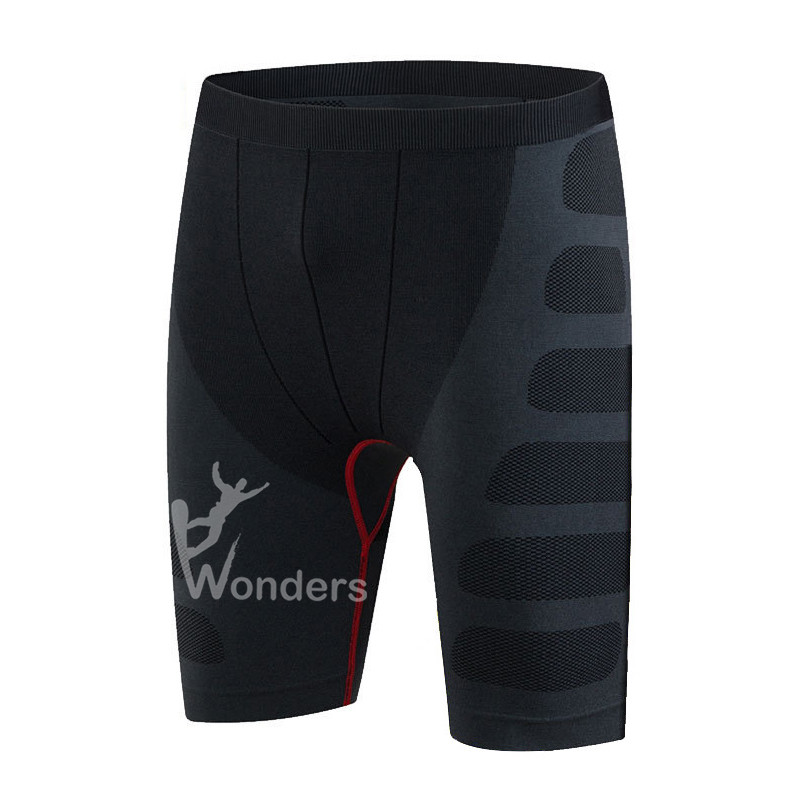 Men's cool dry black compression shorts