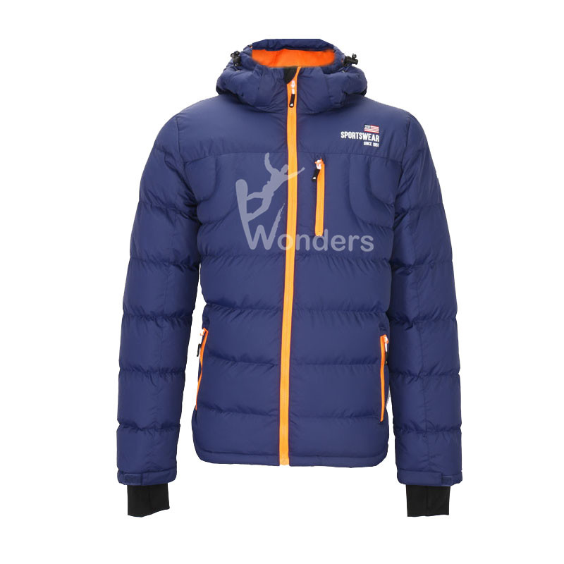 Women's insulated full zip padded jacket with hood