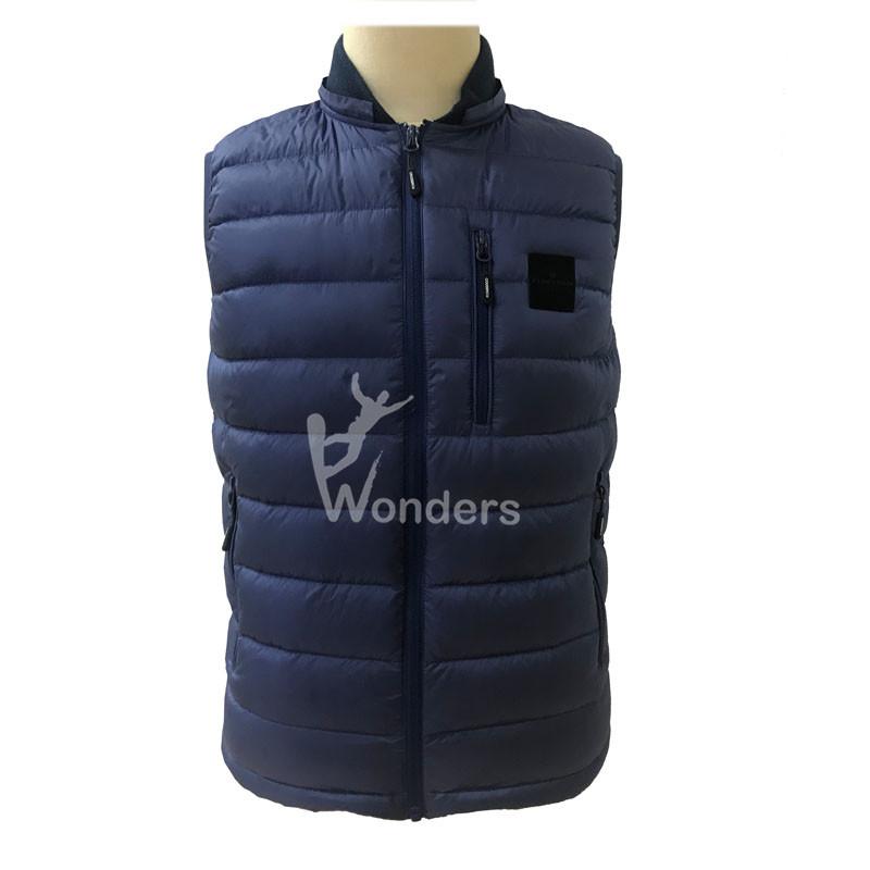 Men's lightweight water-resistant ribstop down puffer vest