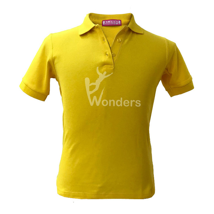 Men's casual slim fit  short sleeve yellow Polo t shirt