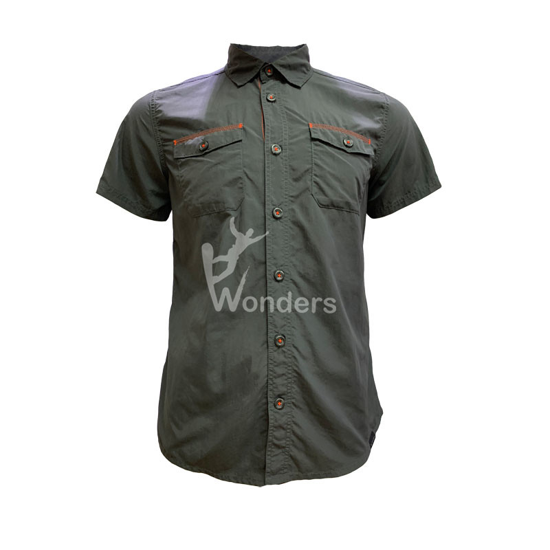 Men's casual slim fit short sleeve Shirt Styles Work Shirt Cotton Shirt