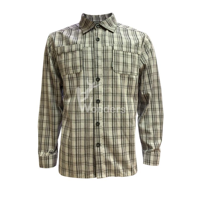 Men's casual slim fit long sleeve Shirts Mens Standard-Fit Shirt