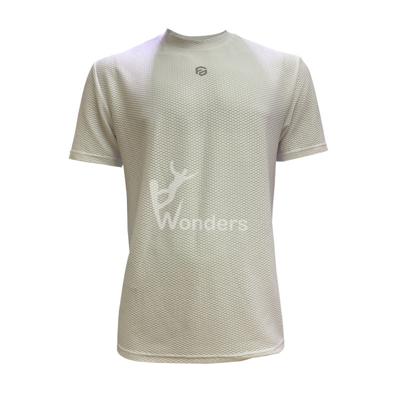 Man's casual slim fit short sleeve recycle white T shirt Running Basic TEE