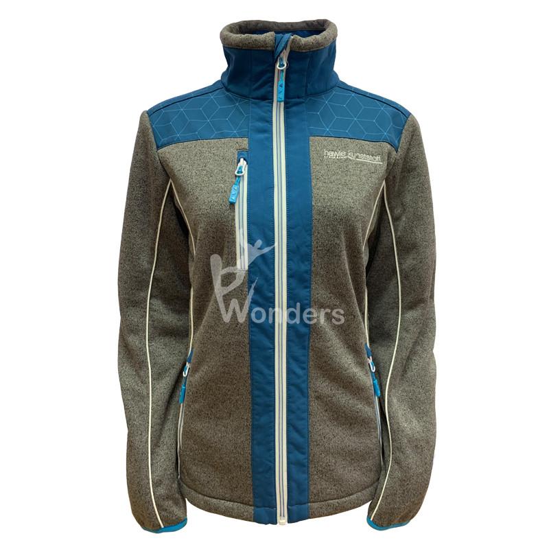 Man's Sweater knit specialized hybrid Jacket 2-tone Full zipper Jacket