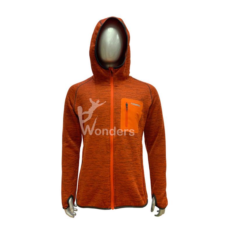 Men's Melange Full zip Fleece Jacket